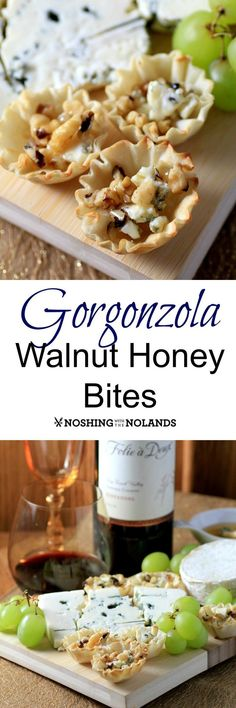 Gorgonzola Walnut Honey Bites by Noshing With The Nolands are the perfect offering for The Oscars! Made with Castello Cheese they pair well with Folie a Deux Zinfandel! You can also win a trip for two to Napa Valley!!