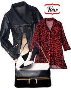 BLACK, WHITE & RED  The classic combo gets a hot new twist when paired with a chic shock of scorching scarlet. Stay on trend by pairing an edgy moto jacket with sleek pointy-toe pumps. https://srunk.avonrepresentative.com/
