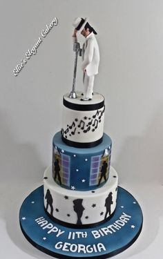 Micael Jackson Smooth Criminal by Ellie @ Ellie's Elegant Cakery