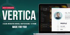 Vertica - Retina Ready Resume / CV