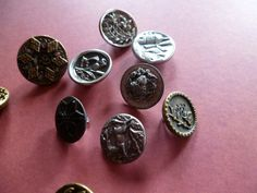 Beautiful Antique Victorian Buttons by CaityAshBadashery on Etsy, $19.75