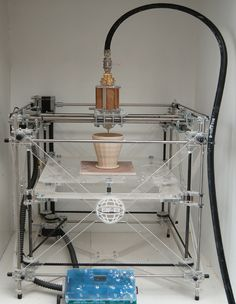 Bits from Bytes RapMan 3D printer adapted to print in clay