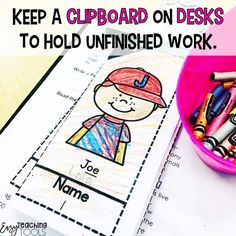 Are messy desks driving you crazy in your classroom? I've got 3 messy desk solutions you can use tomorrow! One of the tips involves a clipboard, but you'll have to click through to see the other two Get a clean classroom, starting today! Clean Classroom, Classroom Desk, Classroom Organization, Organization Ideas, Kindergarten Classroom, Future Classroom, Positive Behavior Management, Classroom Management, Teaching Tools