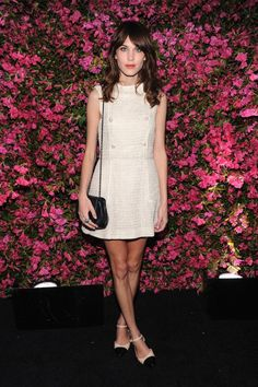 Alexa Chung shows how to be glamorous in flats on the red carpet at the Chanel Tribeca Film Festival Artists Dinner in April 2013 (Picture: Chanel)