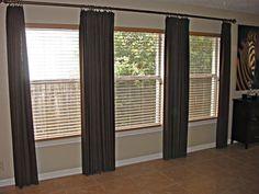 Window Treatment On Pinterest Extra Long Curtain Rods