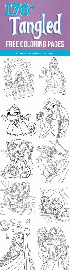 10 Best Rapunzel Coloring Pages images in 2019 | Coloring ...