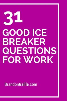 31 good ice breaker questions for work ice breakers for work, meeting ice breakers, Icebreaker Games For Work, Fun Icebreakers, Icebreaker Activities, Work Activities, Icebreaker Questions For Adults, Leadership Activities, Physical Activities, Bonding Activities, Leadership Development