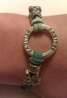 """this is from https://marketplace.asos.com/listing/bracelets/affirmation-bracelet-believe-charm-and-european-charms/253808 and I love it... because I do """"believe"""" :) I can see im going to need to work harder with all these lovely things! :) @sirenmoonbee"""