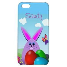 Easter Bunny iPhone 5C Case by elenaind at #Zazzle