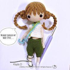 Amigurumi girl doll.
