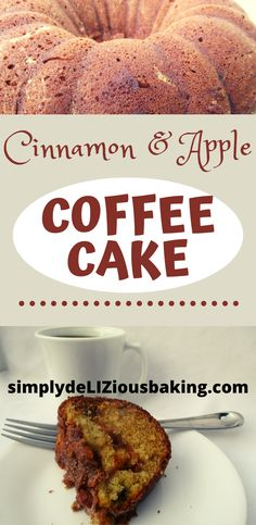 Easy Cinnamon & Apple Cake Recipe - Moist and Delicious. Better than Pioneer Woman's. - Cinnamon & Apple Coffee Cake is the best. So moist and tasty. A flavorful melody of cinnamon and - Cookbook Recipes, Baking Recipes, Apple Cake Recipes, Apple Desserts, Dessert Recipes, Apple Coffee Cakes, Cinnamon Apples, Cinnamon Coffee, Sour Cream Coffee Cake