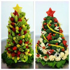 Truly incredible and professional fruit and vegetable trees by Chef Martina from El Monte City Schools, California