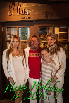 Sammy Hagar (The Red Rocker) posted on Facebook 12/25/13: Happy Holidays from Sammy and the Hagar family!