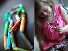 Recycled Paper Beads:  I remember making these at camp when I was a Girl Guard....YES they had paper then.