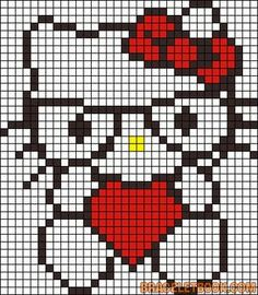 héros - cartoon - bd - hello kitty - point de croix - cross stitch - Blog : http://broderiemimie44.canalblog.com/
