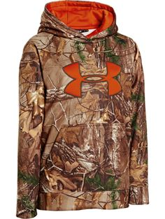 Buy the Under Armour Big Logo Camo Hoodie for Youth and more quality  Fishing 2e4a77a1a5718