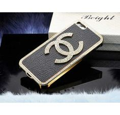 Crystal Chanel iPhone 5 Case Black - Free Shipping Luxury Cases