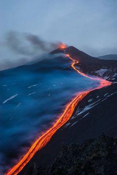 Etna volcano erupting in 2015
