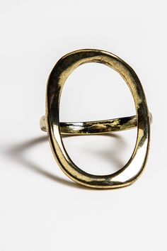 Gold Open Oval Ring