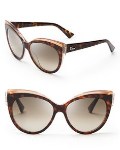 Dior Glisten Cat Eye Sunglasses   Bloomingdale's