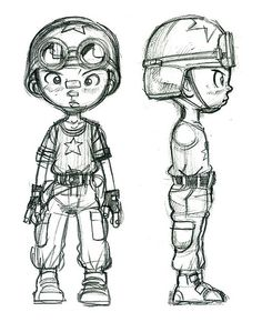 Character design for comic book - Tank Boy by donartdesign, via Flickr