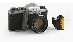 """Heres' where it all started: The Asahi Pentax, made by the Asahi Optical Co., in 1957. Its innovation was the pentaprism (5-sided prism) viewfinder that gave the sLR an erect, correct image at eye level. In fact, the name Pentax means """"Pentaprism Reflex."""" It was so successful that it influenced the design of 35 mm SLRs worldwide for years to come and Asahi renamed itself to Pentax. They kept the name Asahi on their cameras, except for a few years when Honeywell imported Pentax into the USA."""