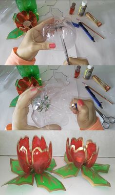Deo recovery Diy 63 Ideas for Christmas 2019 - Deo recovery Diy 63 Ideas for Christmas 2019 - Uses For Plastic Bottles, Plastic Bottle House, Plastic Bottle Flowers, Plastic Bottle Crafts, Recycled Bottles, Creative Crafts, Diy And Crafts, Diy Christmas Lights, Christmas 2019