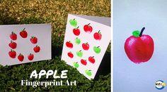 Apple Fingerprint Art - Kidz Activities