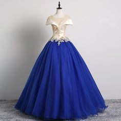 Grey Prom Dress, Royal Blue Prom Dresses, Black Prom Dresses, Pretty Dresses, Beautiful Dresses, Gowns With Sleeves, Cap Sleeves, Royal Blue Gown, Vintage Formal Dresses