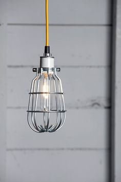 Cage Light Pendant  Industrial Cage Lamp by IndLights on Etsy, $75.00