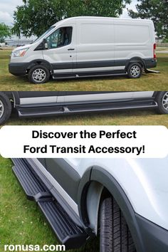 Discover the Wide Step Running Boards for the Ford Transit! Allows for easy step access into the vehicle. #fordtransitpassenger #fordtransit #fordtransitaccessories