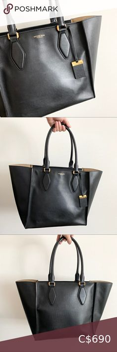 I just added this listing on Poshmark: Michael Kors Collection LG Gracie Black Handbag. #shopmycloset #poshmark #fashion #shopping #style #forsale #Michael Kors Collection #Handbags Michael Kors Tote Bags, Michael Kors Selma, Zebra Print Bag, Striped Tote Bags, Gold Handbags, Nylon Tote, Michael Kors Collection, Black Leather Bags, Womens Tote Bags