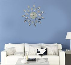 Toprate Sunshine Fire Round Flower Acrylic 3D Mirror Wall Decal @http://watershomedecors.com/