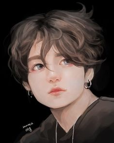 Jungkook Fanart, Bts Jungkook, Vkook Fanart, Bts Chibi, Foto Bts, Bts Anime, Bts Drawings, Kawaii Drawings, Colorful Drawings