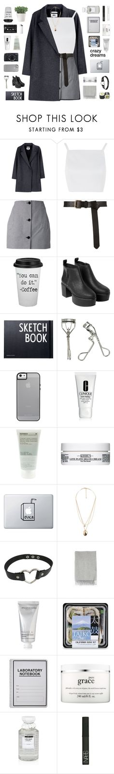 """""""- i know i won't be your cry baby"""" by philosoqhy ❤ liked on Polyvore featuring MM6 Maison Margiela, Topshop, Carven, Floyd, Monki, Design Letters, Japonesque, Fujifilm, Clinique and Korres"""