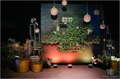 The Big Fake Wedding living wall ceremony backdrop at the Orlando Science Center. by Porch Therapy // 99 MKT