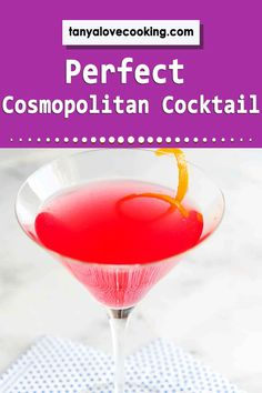 A perfectly delicious cosmopolitan recipe sure to please even the pickiest palate! Drinks Alcohol Recipes, Cocktail Recipes, Drink Recipes, Alcoholic Drinks, Cosmopolitan Cocktails, Most Popular Drinks, Blended Drinks, Rum, Vodka
