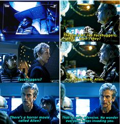 This piece of movie criticism from the #Doctor // 'Doctor Who': 12 Great 'Last Christmas' Moments… in GIFs