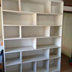 Estante para livros em MDF Branco.