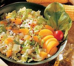 Aurinkoinen pastasalaatti | Myllyn Paras Cobb Salad, Cantaloupe, Salads, Fruit, Vegetables, Cooking, Dressings, Food, Drinks