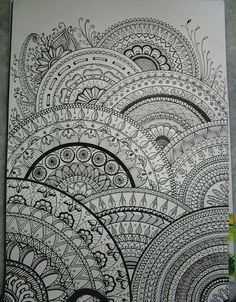 This is absolutely beautiful. SO much to look at. I could never get tired of pouring over this.  All sizes | my drawings inspired zentangle® |