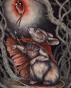 Inspired by one of my favorite childhood books and films my secret of NIMH Mrs Brisby/Frisby portrait is now available as a print in my society6 shop you can find it at http://ift.tt/1vbsCp9 by caitlin_hackett