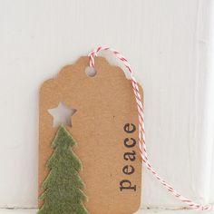 Homemade Christmas Gift Tags Day 5: Felt Christmas Tree