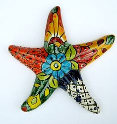 MEXICAN POTTERY WALL DECOR STARFISH