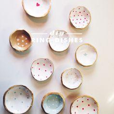 diy air dry clay ring bowls