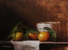 """Clementine with Small Pot"" - Original Fine Art for Sale - © Neil Carroll"