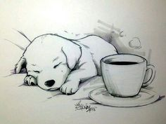 Imagen de dog, art, and puppy