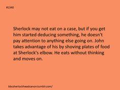 Sherlock head canon, food