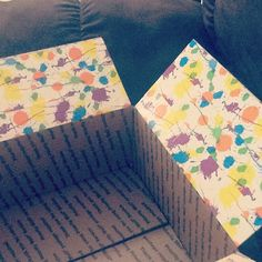 using patterned duct tape to make packages pretty