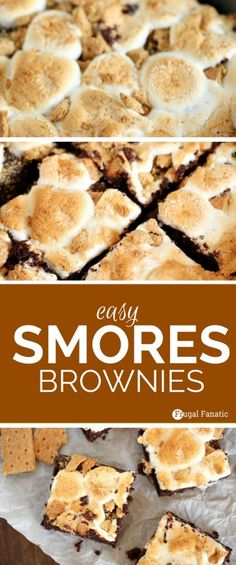 You will love this delicious and easy smores brownies recipe. Click now to get t… You will love this delicious and easy smores brownies recipe. Click now to get the ingredients and instructions… - Smores Brownies, Boxed Brownies, Easy Brownies, Caramel Brownies, Blondie Brownies, Cheesecake Brownies, Pumpkin Cheesecake, Smores Dessert, Smores Cake